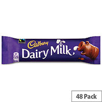 Cadbury Dairy Milk Chocolate Bars Pack 48 100143
