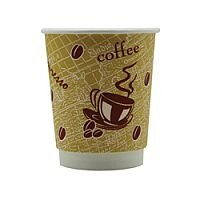 4Aces Double Wall 8oz Red Bean Paper Cup Pack of 500 HVDWPA08
