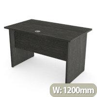Home Office Ashford Desk W1200xD700mm 25mm Desktop Panel Legs Carbon Walnut