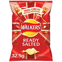 Walkers Ready Salted Crisps 32.5g Pack of 32 121797