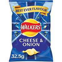 Walkers Cheese and Onion Crisps 32.5g Pack of 32 121796