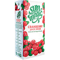Sunmagic Premium Cranberry Juice Drink 1 Litre Pack of 12 A08111