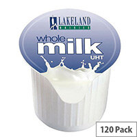 Lakeland Full Fat Milk 14ml Pots UHT (Pack of 120)
