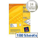 Avery Multi-Purpose Label 70x36mm 24TV per Sheet White (Pack of 40 Sheets)