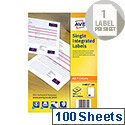 Avery Single Integrated Label 85x54mm (Pack of 100)