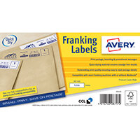 Avery Franking Label QuickDRY 165x44mm 1 Per Sheet White Pack of 1000 FL11