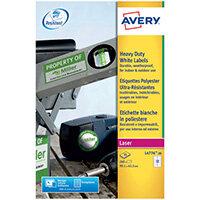 Avery Laser Label 63.5x72mm Heavy Duty White Pack of 240 L4776-20