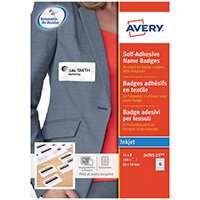 Avery Self-Adhesive Name Badges 80x50mm Pack of 150 J4785-15