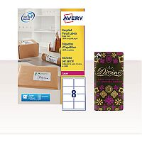Avery Laser Label Address 99.1 x 67.7 with FOC Chocolate AV814362