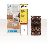 Avery Laser Label Shipping 199.6 x 289.1 with FOC Chocolate AV814364