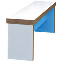 Frovi BLOCK Medium Colour Panel Bench Seat W1600mm For 1800mm Table With 2 Tone Laminate Colours W1600xD280xH400mm