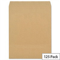 New Guardian Pocket Envelopes Manilla 444x368mm Heavyweight 130gsm Peel and Seal Pack of 125
