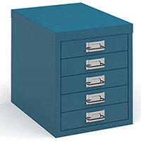 Bisley Multidrawer With 5 Drawers - Blue
