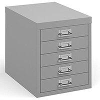 Bisley Multidrawer With 5 Drawers - Grey