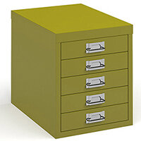 Bisley Multidrawer With 5 Drawers - Green