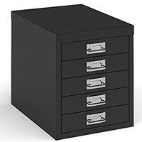 Bisley Multidrawer With 5 Drawers - Black