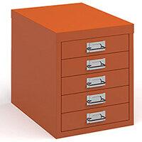 Bisley Multidrawer With 5 Drawers - Orange