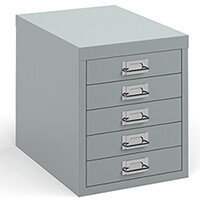 Bisley Multidrawer With 5 Drawers - Silver