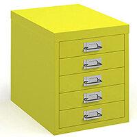 Bisley Multidrawer With 5 Drawers - Yellow