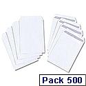 C5 White Envelopes 90gsm Pocket Press Seal Pack 500 5 Star