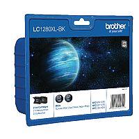 Brother LC1280XL-BK Black High Yield Inkjet Cartridge Twin Pack