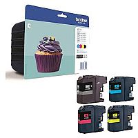 Brother LC123 4 Colour Value Pack Inkjet Cartridge C123BVALBP