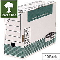 Fellowes Panda Transfer File Foolscap Green/White 120mm