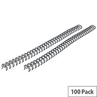 Fellowes 9mm Black Wire Binding Element Pack of 100