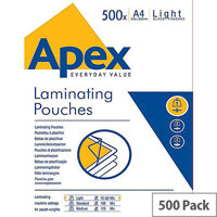 Fellowes Apex Laminating Pouch A4 Light Duty Pack of 500