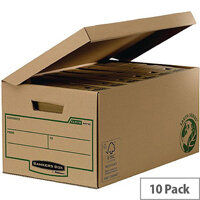 Fellowes Bankers Box Earth Series Flip Top Maxi Storage Box W378 x D545 x H287mm Brown 4472201