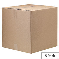 Classic Double Wall Packing Cardboard Boxes 665x662x659mm (Pack of 5) Ref 7277101
