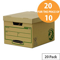 Bankers Box Brown Earth Series Standard Storage Box Pack of 10 Buy One Pack Get One Pack Free