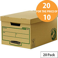 Bankers Box Earth Series Large Storage Box Pack of 10 Buy One Pack Get One Pack Free