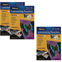 Fellowes Laminating Pouch A4 160 Mic Get 3 packs for the Price of 2 (Pack of 200+100) BB810551