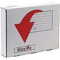 Missive Value Garment Mailing Box Pack of 20 FOC Cadbury Heroes Variety Bag BB810557