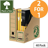 Fellowes Magazine File Recycled FSC Self-assembly Pack 40 For The  Price Of 20