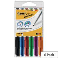 Bic Velleda 1741 Drywipe Assorted Markers Pack of 6 1199005746