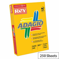 Adagio 160gsm Bright Assorted A4 Coloured Card Paper Pack of 250 Sheets