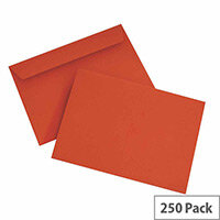 Blake C6 Wallet Envelope Peel And Seal 120gsm Pack of 250 Pillar Box Red 106
