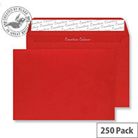 Blake Creative Colour Pillar Box Red Wallet C4 Envelopes (Pack of 250)