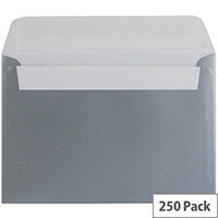Blake C6 Metallic Silver Wallet Envelope (Pack of 250)