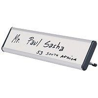 Bi-Office Desk Nameplate 60x220x20mm White