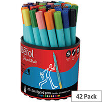 Berol Colourfine Pens Assorted Water Based Ink Tub of 42 CFT S0376490