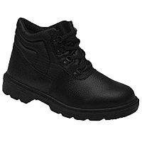 Proforce Toesavers S1P Safety Chukka Boots Mid-Sole Size 7 Black
