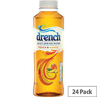 Juicy Drench Peach and Mango 500ml PET Pack of 24 978104