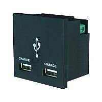 1 amp Black Double USB Charger