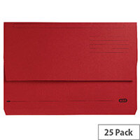 Elba Bright Manilla Foolscap Document Wallet Bordeaux Pack of 25