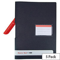 Black n Red Clip Files Pack of 5 400063613