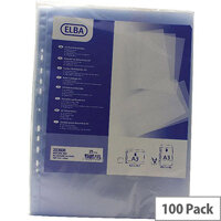 Elba Polypropylene Pocket A3 Upright Open Top Clear 120 Micron Pack of 100 100080921