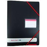 Black n Red Ring A4 Binder Plus 16mm 4 Ring Black 400078863